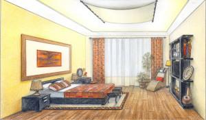 Спальня в этническом стиле. Работа Ильиной Ирины